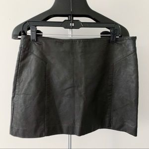 Express NWT faux leather skirt
